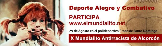 10º mundialito antirracista de Alcorcón 29 de Agosto en el polideportivo Prado de Santo Domingo